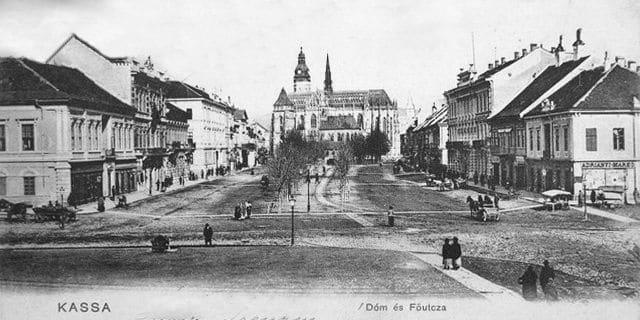 Autor: hlavna_ulica__pohlad_juzny Košice historické fotografie / Kronika Slovenskej republiky