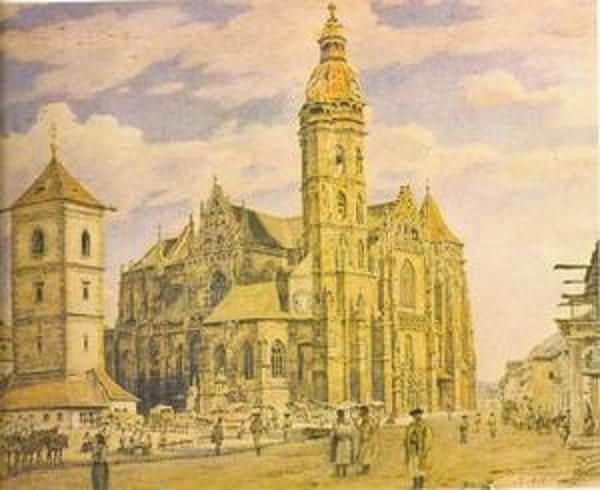 Autor: Namestie_pred_Domom_od_Jakuba_Alta_z_roku_1839 Košice historické fotografie / Kronika Slovenskej republiky